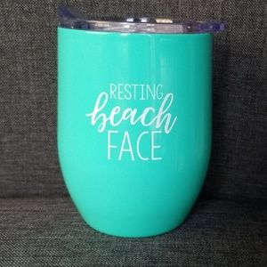 Resting Beach Face Mug / Tumbler.  NEW